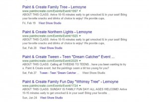 rich snippets for events
